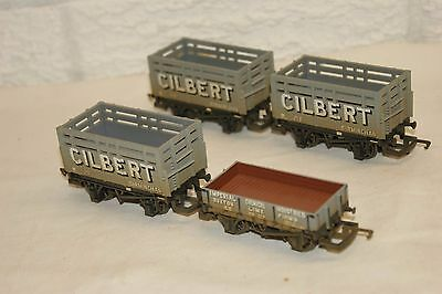 OO gauge NEAR MINT 4x Hornby Weathered Wagon Cilbert and ICI Buxton NICE LOT
