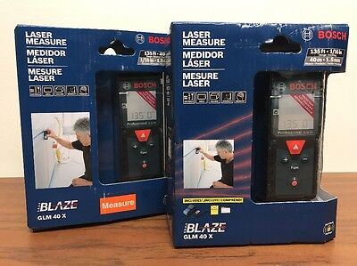 New Bosch GLM40X GLM 40 X 135 ft. Laser Measure FREE PRIORITY SHIPPING!