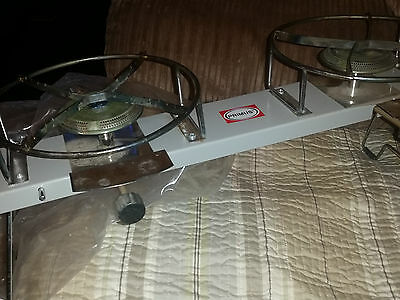 Primus Njord Two Burner Camp Stove GAS STOVE double cooker camping cartridge