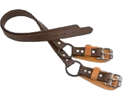 Weaver Leather Arborist Lineman Gaff Spur Ankle Foot Straps Split Ring 08-98050