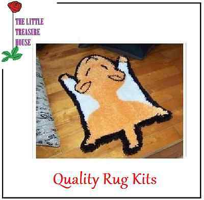 Hamster Printed Canvas Latch Hook Rug Kit - Rug Making - Everything included