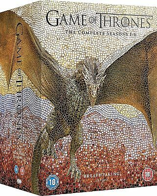 Game Of Thrones Season 1-6 Dvd, New And Sealed, Region 2