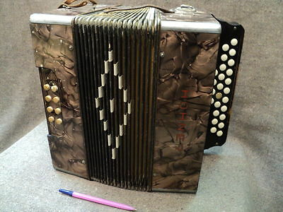 Vintage Small Accordion Harmonica Hohner Germany Rare 1930