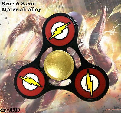 DC Comics The Flash logo alloy Hand Spinner Triangle Fidget Spinner Finger Toy