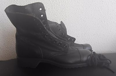 Israel IDF Army signed Zahal Military BLACK LEATHER COMBAT BOOTS 42 SIZE MCRAE