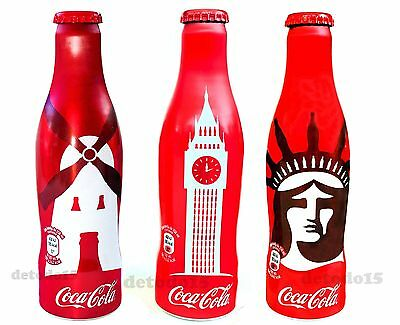 Coca Cola.Komplette Serie,WELTSTADTE.New York.London.Amsterdam.Full Bottle.Coke