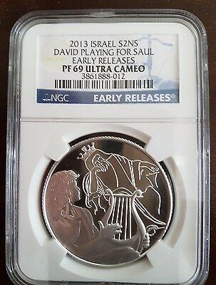 2013 Israel S2NS DAVID PLAYING FOR SAUL COIN - BIBLICAL ART SERIES . REDUCED !!!