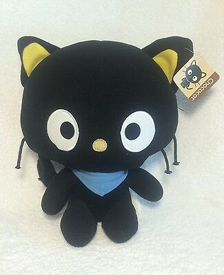 "Chococat Hello Kitty Plush Stuffed Animal 12"" Sanrio Toy Black Cat With Tags"