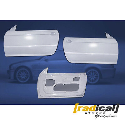 Pair of FRP Lightweight Doors for BMW E46 Coupe race drift track only