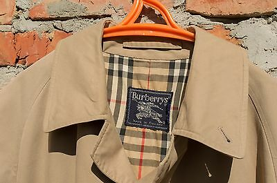 Men`s Vintage Burberrys Trench Coat Nova Check 50 Reg Size 50 UK