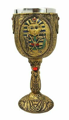 "6.75"" Height Ancient Egyptian Egypt Pharaoh King Tut Beverage Wine Goblet Cup"