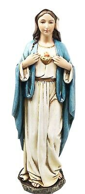 Sacred Immaculate Heart Of Mary Figurine Devotion To Lord Jesus Christ Statue