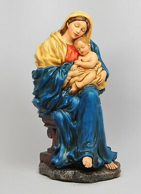 "Christianity Figurine Collection Virgin Mary Madonna with Child Jesus 10.5""H"