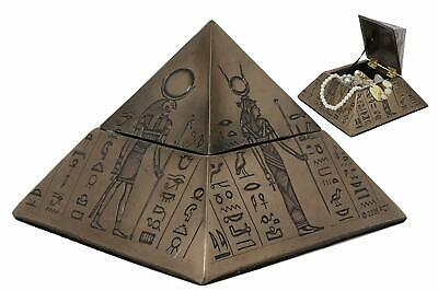 Ancient Egyptian Gods Pyramid Jewelry Box Keepsake Anubis Horus Isis Decorative