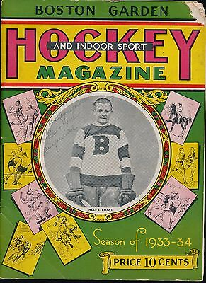 Program From December 12 1933 EDDIE SHORE Takes Out ACE BAILEY Historic