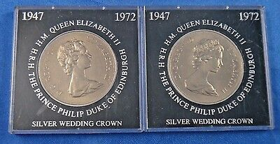 1972 Great Britain 25 New Pence Silver Wedding Crown Coin Lloyds Bank