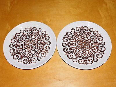 2 Retro/Vintage Biltons Tableware Staffordshire Dinner Plates 9 3/4in