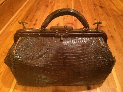 Alligator Doctors Bag Antique Beautiful Skins