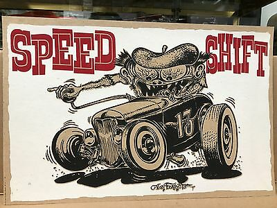 "Vintage Style Von Franco ""speed Shift"" 17"" X 11"" Printed On Heavy Card Stock"