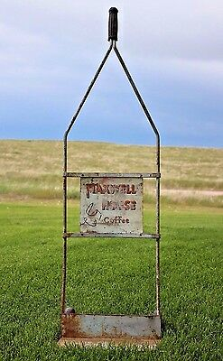 1940s Maxwell House Coffee Store Display Advertising Hand Truck Cart Dolly Sign