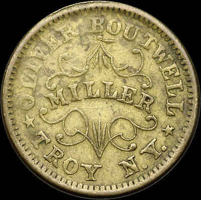 Civil War Token CWT, Oliver Boutwell Miller, Troy, NY, 1863