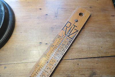 Old RITZ wood slide foot measurer, made by American Automatic Devices, vintage