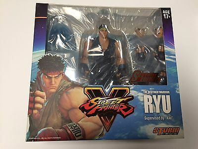 In Stock! New Storm Collectibles Street Fighter Sf V Ryu 1/12 Scale Special Blue
