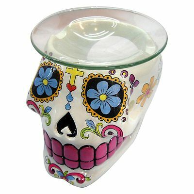 Sugar Skull Oil Burner by Nemesis Now - Back In Stock ! - Limited Remaining