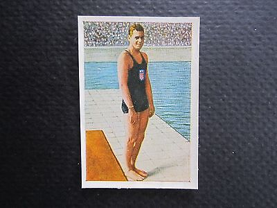 """1928 Johnny Weissmuller card — Salem """"Die Welt"""" Series — USA Olympic swimming"""