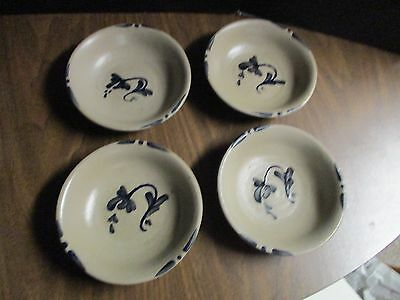 Rowe Salt Glazed Pottery Cereal Bowls Set of 4 Cambridge, Wisconsin