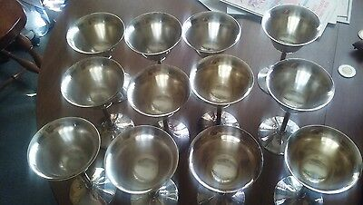 Set of 12 Silver Wine goblets, Apollo EPNS, BRS inc.