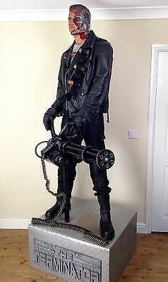 Terminator Salvation Full / Life Size Model / Prop Of Marcus Wright Statue Film