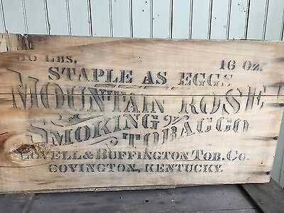 "Rare Lovell & Buffington Covington, Ky ""mountain Rose"" Tobacco Wood Crate Box"