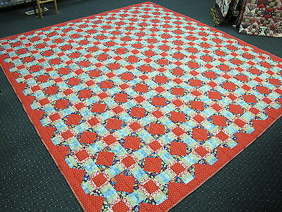 Authentic Amish Handmade Qn/King Quilt, 103 x 114 Signed/Dated, Chili, Wisconsin