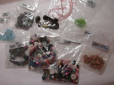 job lot of assorted gems  (some = tggc)  jewellery making /  crafters  etc