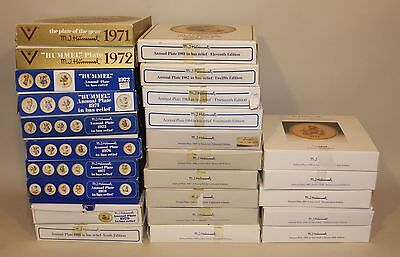 25 Hummel Annual Collector Plates 1971 Through 1985 Complete Set in Boxes