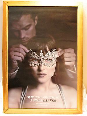 L@@K-Lot of 2 FIFTY SHADES DARKER 27x40 ORIGINAL D/S MOVIE POSTER-L@@K