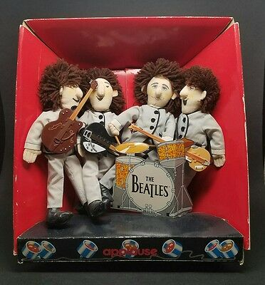 RARE & VINTAGE 1989 The Beatles at Shea Stadium Applause Collectible Dolls w Box