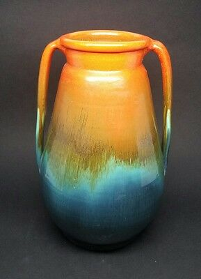 Rare Antinque Stangl RAINBOW SUNBURST TWO HANDLE VASE - Art Pottery