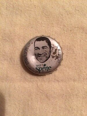 1965 Sprite Coke Cork Bottle Cap Rare Cfl Stampeders P. Allbright