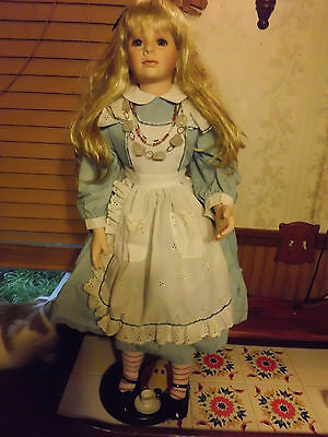 "Thelma Resch 32"" Alice porcelain doll Masterpiece Gallery w/coa 0212/2000 free s"