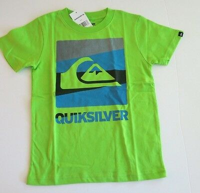 NWT Quiksilver Toddler Boys 2T Short Sleeve Repel Tee T-Shirt Lime Green Cotton