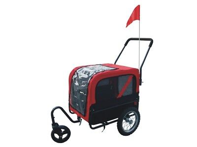 Dog Bike Bicycle Trailer Storller Jogger Outdoor Black And Red
