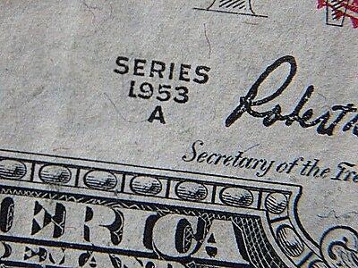 MISPRINTED Two Dollar Bill $2 RED 1953A US Legal Tender Note
