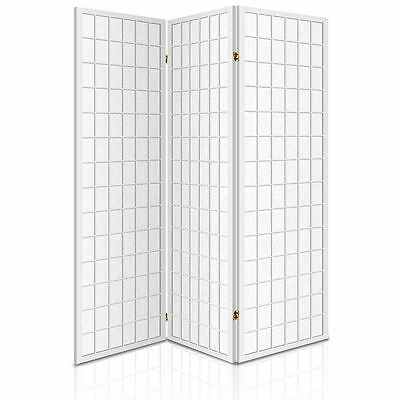 Room Divider 3 Panel Privacy Screen Folding Partition White Wooden