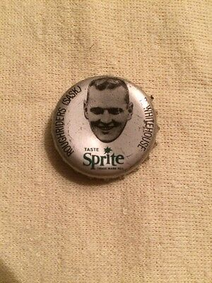 1965 Sprite Coke Cork Bottle Cap Rare Cfl Roughriders Saskj R. Whitehouse