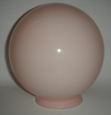 Glass Light Shade Fitting Round Sphere Ball Pink Colour Vintage Home Decor
