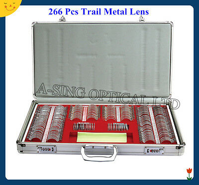 """TLS-266"" trial lens set 266pcs lens Aluminum Case with 38mm Metal Ring lens"