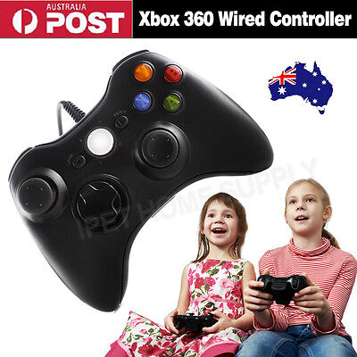 Black USB Wired Controller For Xbox 360 Slim PC Games Windows7 Win8 Window10