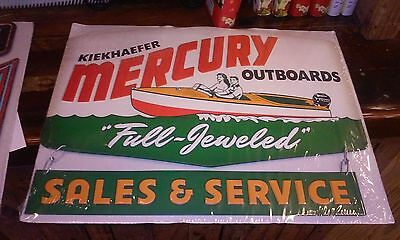 Kiekhaefer Outboards Sales And Service Metal Sign Raised Letters 18 By 14 Inches